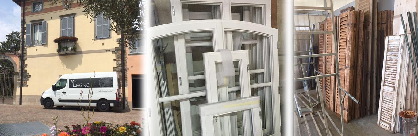 immagine processo restauro serramenti in legno