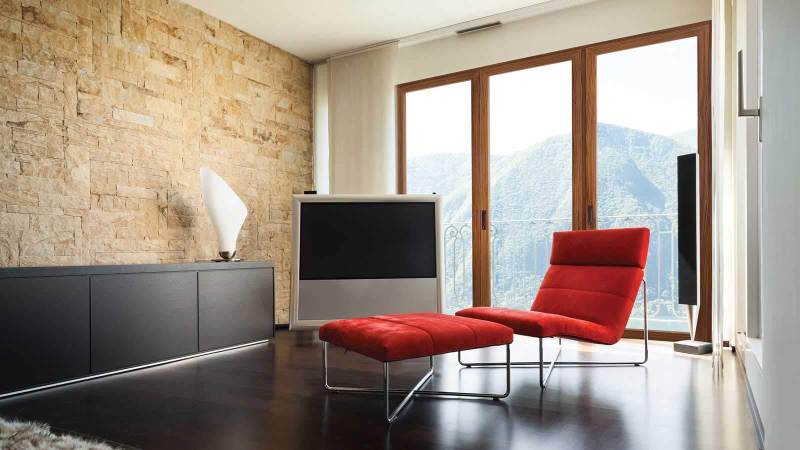 appartamento con Serramenti in legno