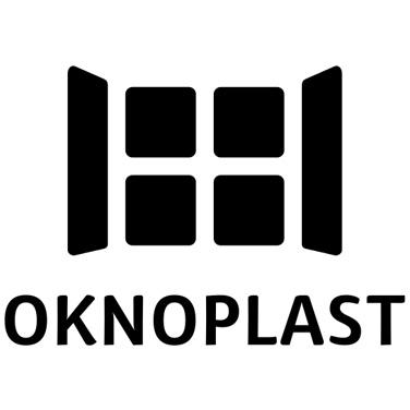 Rappresntazione logo okonoplast nero su sfondo bianco