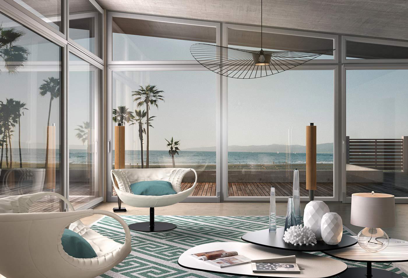 Interno appartamento con finestre sciuker