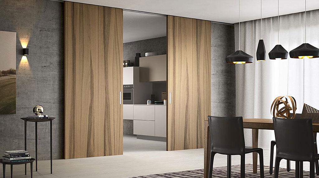 Appartamento con porte scorrevoli