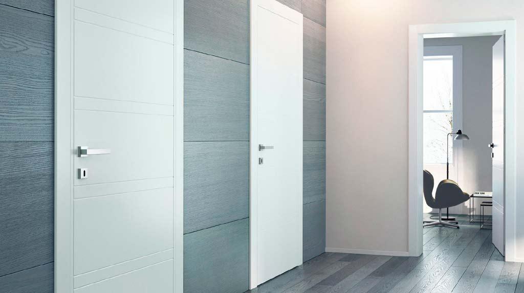 interno appartamento porte grigie