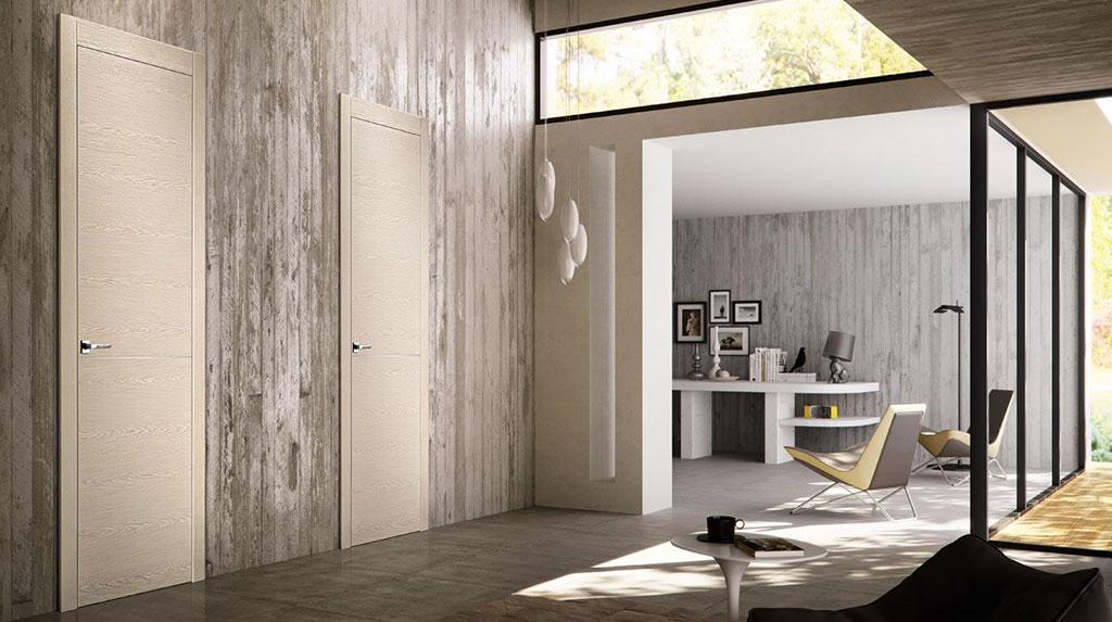 Loft moderno porte in legno